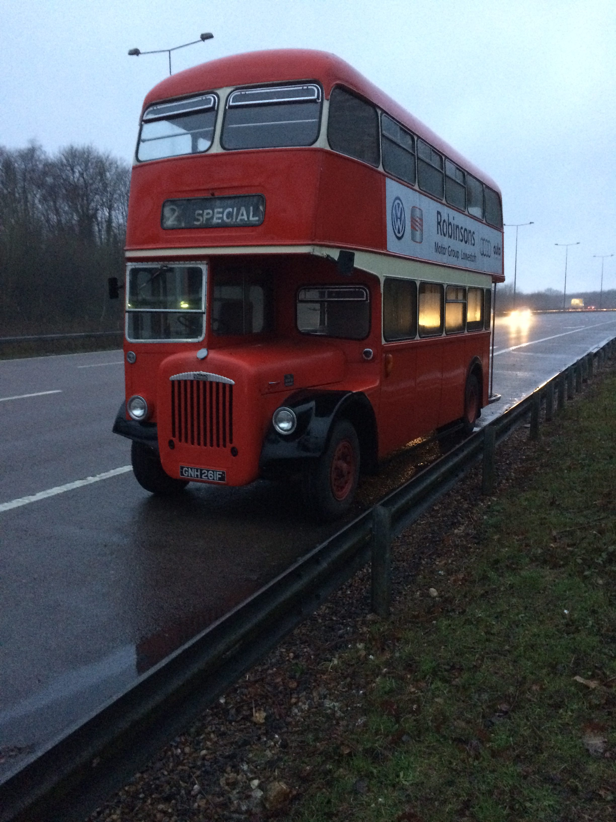 The Oxford Rose double decker bus prior to fit out